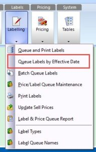 Label Printing by Effective Date