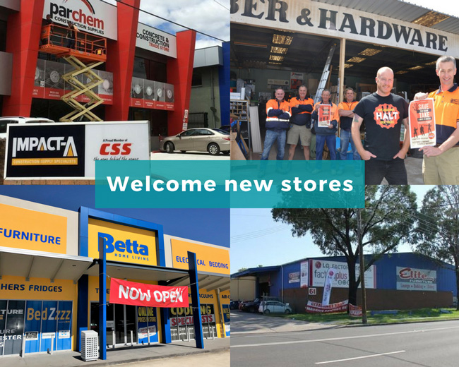 Welcome new stores to SYM-PAC : Jan-Feb '18