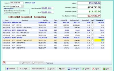 "SYM-PAC's new features : Bank Reconciliation ""Save Progress"""