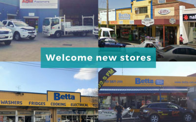Welcome new stores to SYM-PAC : May '18