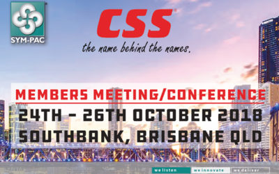 SYM-PAC at the CSS Members Meeting & Conference : October '18
