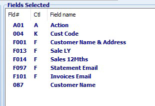 SYM-PAC how to : extract Customer details for email communication