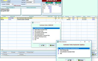 SYM-PAC's new feature : new Back Order Management option