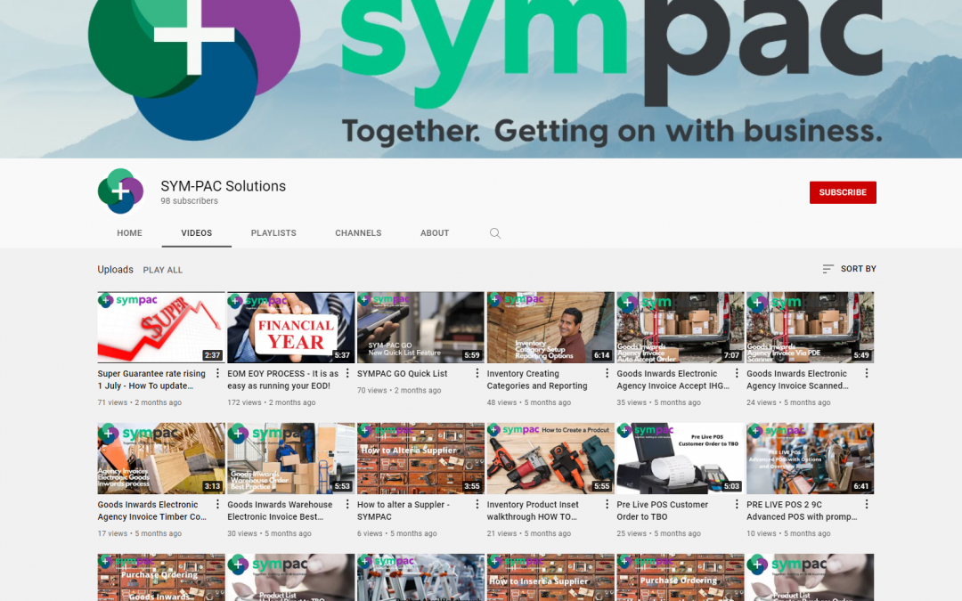 Sympac's YouTube channel now has over 100 videos!